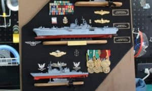 how to display military medals in a shadow box