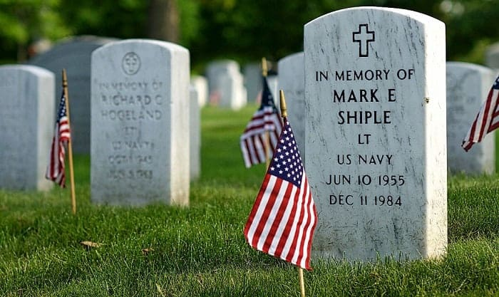 how to install a military grave marker