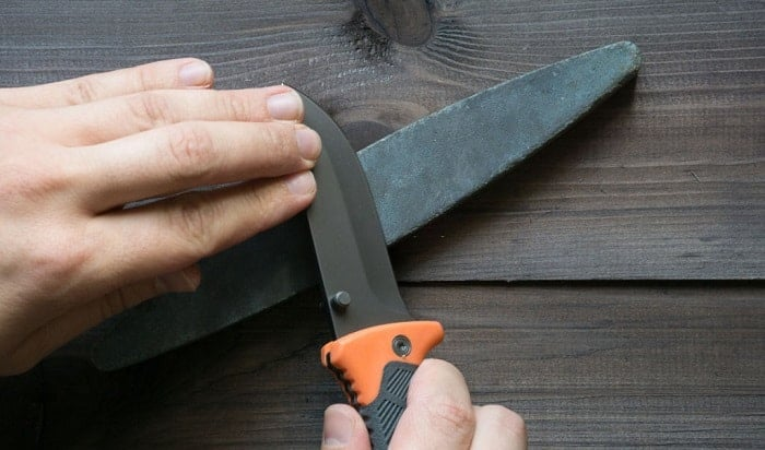 how to sharpen a tactical knife