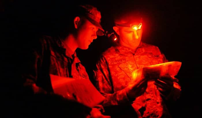 what is a red tactical headlamp