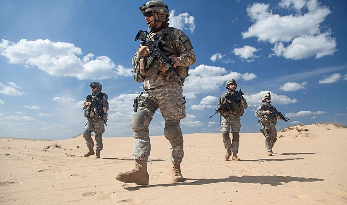 which military service conducts security and stability